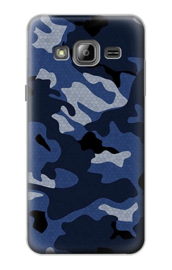 Printed Navy Blue Camouflage Samsung Galaxy J1 Case