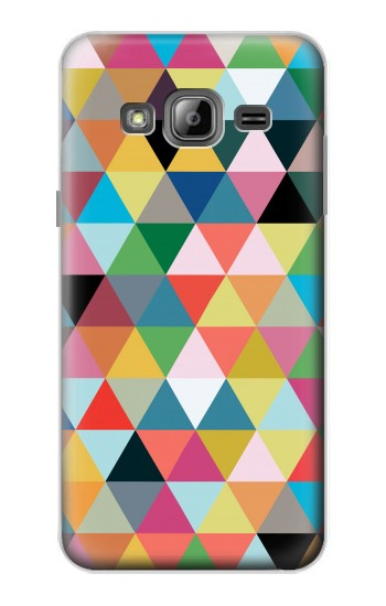 Printed Triangles Vibrant Colors Samsung Galaxy J1 Case