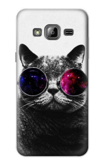 Printed Cool Cat Glasses Samsung Galaxy J1 Case