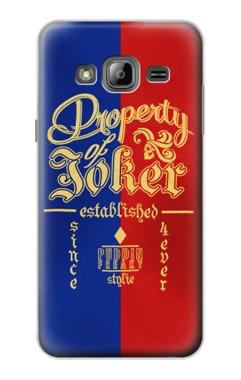 Printed Property of Joker Puddin Freaky Style Samsung Galaxy J1 Case