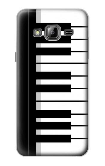 Printed Black and White Piano Keyboard Samsung Galaxy J1 Case