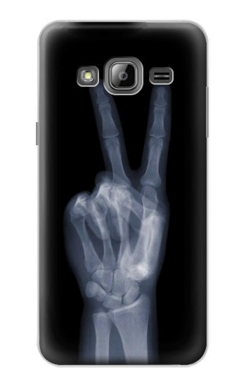 Printed X-ray Peace Finger Samsung Galaxy J1 Case