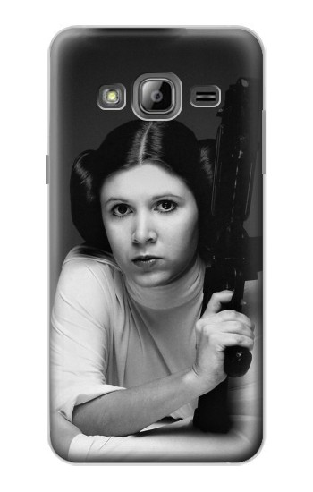 Printed Princess Leia Carrie Fisher Samsung Galaxy J1 Case