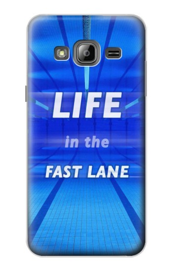 Printed Life in the Fast Lane Swimming Pool Samsung Galaxy J1 Case