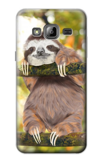 Printed Cute Baby Sloth Paint Samsung Galaxy J1 Case