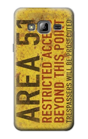 Printed Area 51 Restricted Access Warning Sign Samsung Galaxy J1 Case