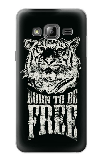 Printed Born to Be Free Tiger Samsung Galaxy J1 Case
