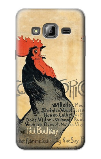 Printed Cocorico Rooster Vintage French Poster Samsung Galaxy J1 Case