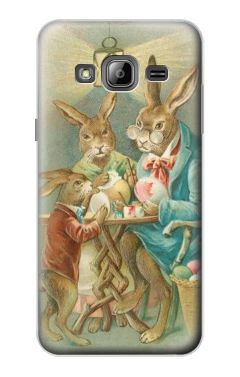 Printed Easter Rabbit Family Samsung Galaxy J1 Case