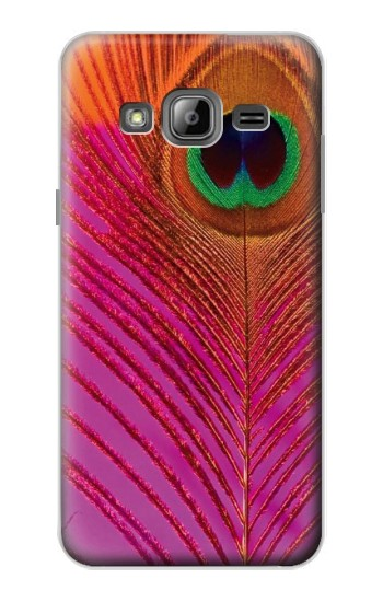 Samsung Galaxy J3 (2016) Pink Peacock Feather Case Cover