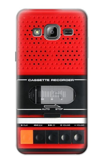 Printed Red Cassette Recorder Graphic Samsung Galaxy J1 Case