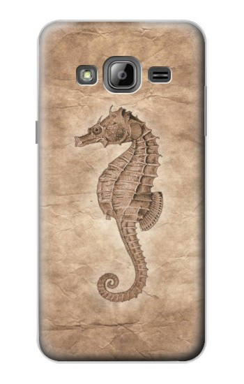 Printed Seahorse Old Paper Samsung Galaxy J1 Case