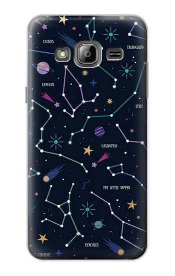 Printed Star Map Zodiac Constellations Samsung Galaxy J1 Case