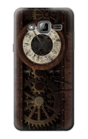 Printed Steampunk Clock Gears Samsung Galaxy J1 Case