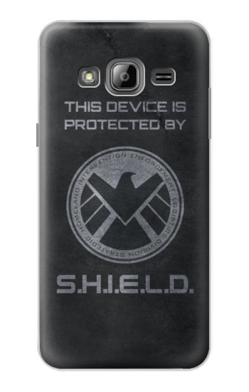 Printed This Device is Protected by Shield Samsung Galaxy J1 Case