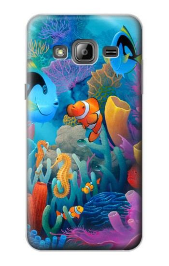 Printed Underwater World Cartoon Samsung Galaxy J1 Case