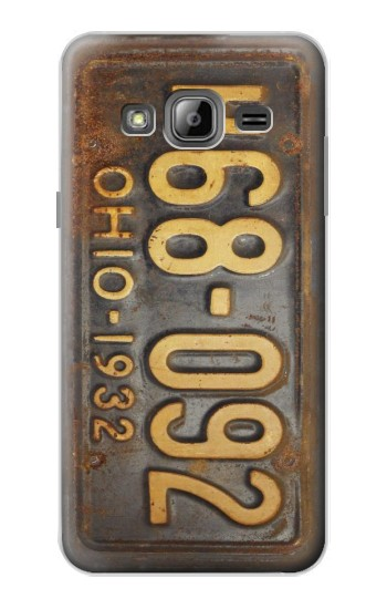 Printed Vintage Car License Plate Samsung Galaxy J1 Case