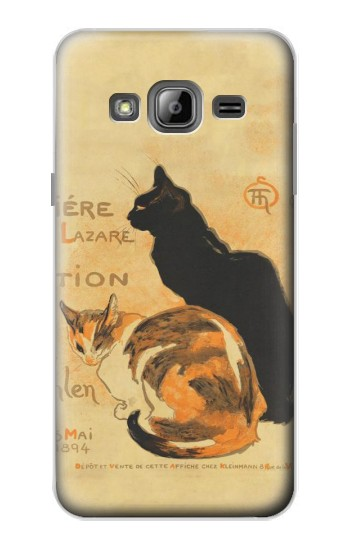 Printed Vintage Cat Poster Samsung Galaxy J1 Case