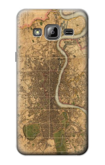 Printed Vintage Map of London Samsung Galaxy J1 Case