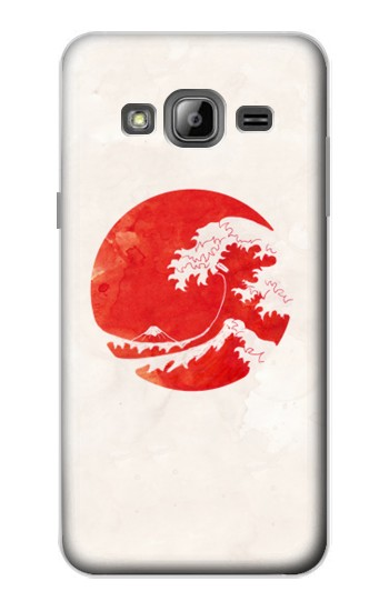 Printed Waves Japan Flag Samsung Galaxy J1 Case