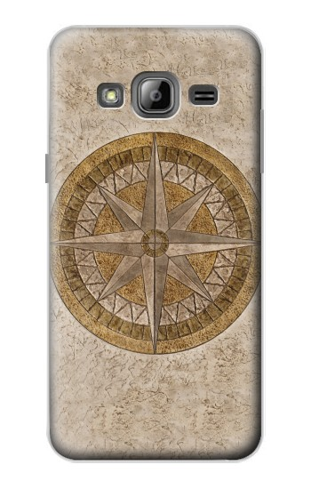 Printed Windrose Circle Stamp Samsung Galaxy J1 Case