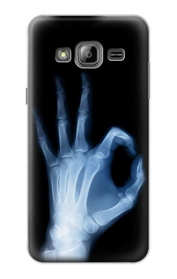 Printed X-Ray Hand Sign OK Samsung Galaxy J1 Case