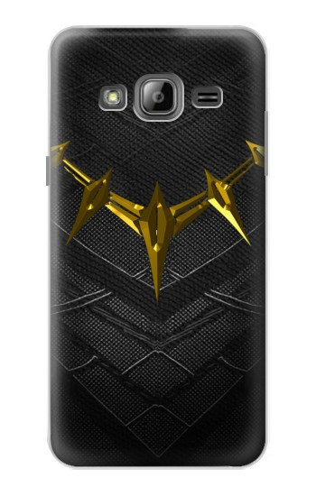 Printed Black Panther Inspired Costume Gold Necklace Samsung Galaxy J1 Case