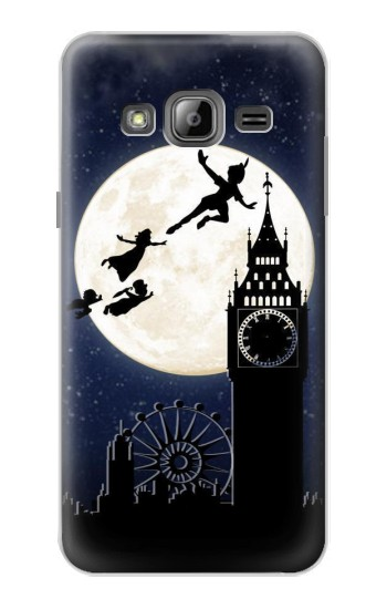 Printed Peter Pan Fly Fullmoon Night Samsung Galaxy J1 Case