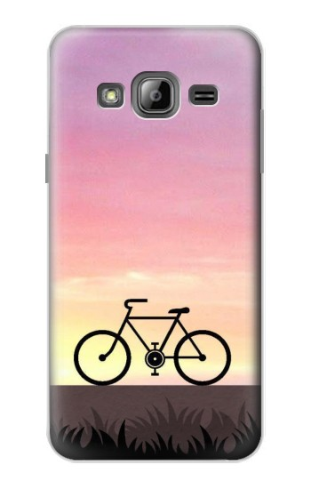 Printed Bicycle Sunset Samsung Galaxy J1 Case