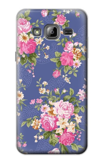 Printed Vintage Flower Pattern Samsung Galaxy J1 Case