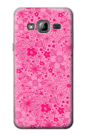 Printed Pink Flower Pattern Samsung Galaxy J1 Case