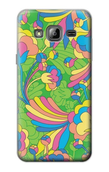 Printed Flower Line Art Pattern Samsung Galaxy J1 Case