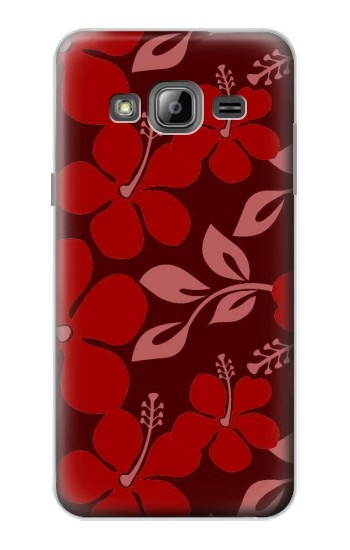 Printed Hawaii Dark Red Pattern Samsung Galaxy J1 Case