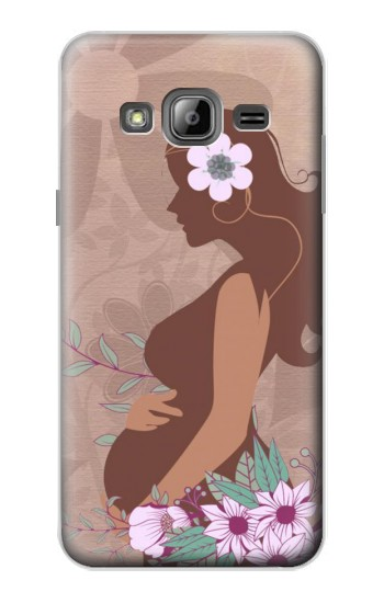 Printed Pregnant Mommy Baby Samsung Galaxy J1 Case
