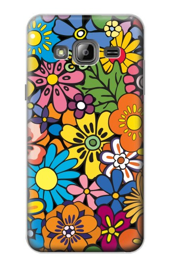 Printed Colorful Flowers Pattern Samsung Galaxy J1 Case