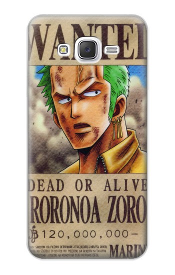 Printed One Piece Roronoa Zoro Wanted Poster Samsung Galaxy J5 Case