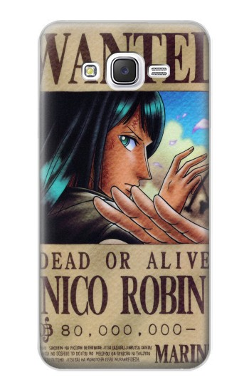 Printed One Piece Nico Robin Wanted Poster Samsung Galaxy J5 Case