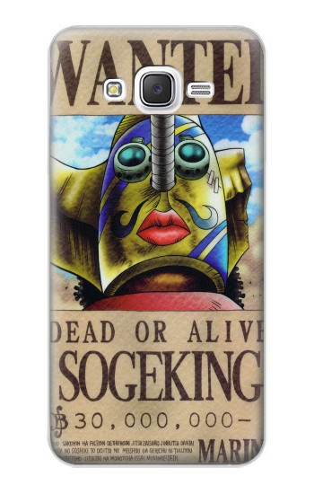 Printed One Piece SOGEKING Wanted Poster Samsung Galaxy J5 Case