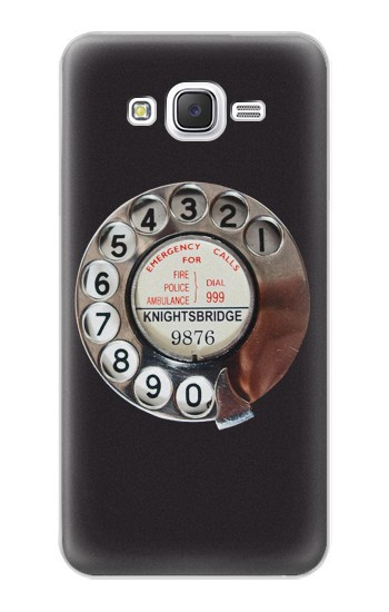 Printed Retro Rotary Phone Dial On Samsung Galaxy J5 Case