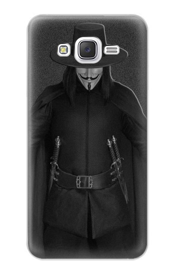 Printed V Mask Guy Fawkes Anonymous Samsung Galaxy J5 Case