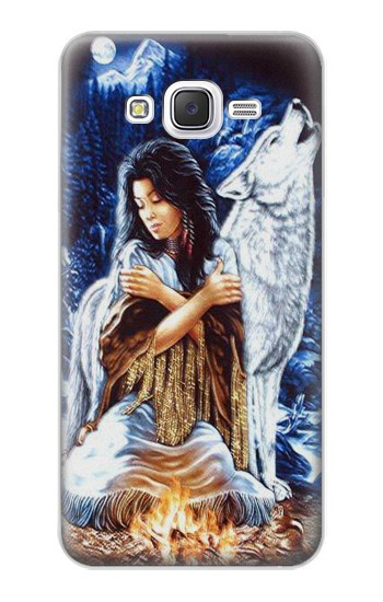 Printed Grim Wolf Indian Girl Samsung Galaxy J5 Case