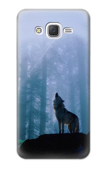 Printed Wolf Howling in Forest Samsung Galaxy J5 Case