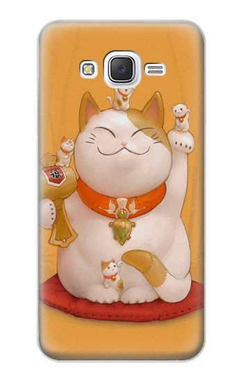 Printed Maneki Neko Lucky Cat Samsung Galaxy J5 Case