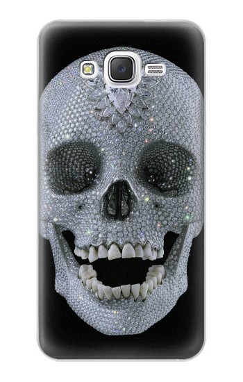 Printed Diamond Skull Samsung Galaxy J5 Case