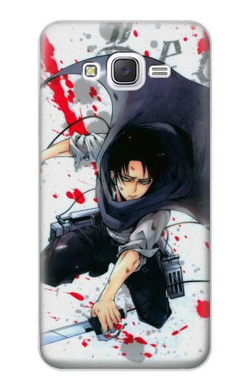 Printed Attack on Titan Rivaille Levi Samsung Galaxy J5 Case
