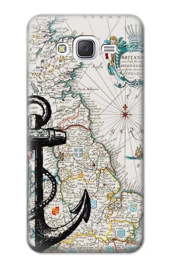 Printed Nautical Chart Samsung Galaxy J5 Case
