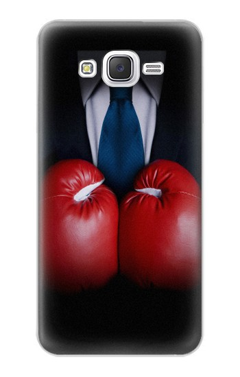 Printed Businessman In Black Suit With Boxing Gloves Samsung Galaxy J5 Case