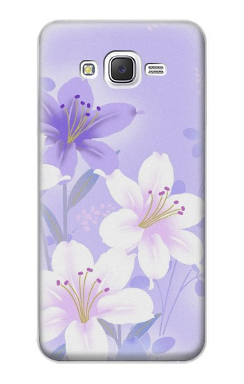Printed Purple White Flowers Samsung Galaxy J5 Case