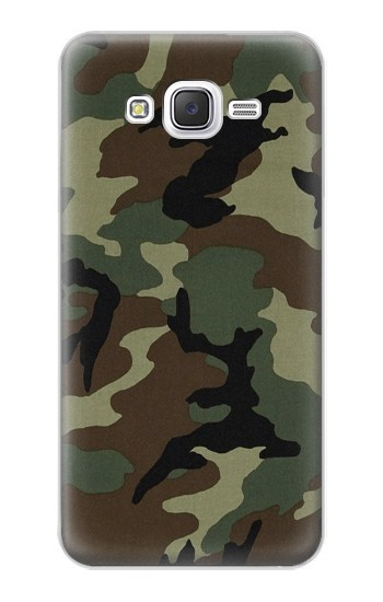 Printed Army Green Woodland Camo Samsung Galaxy J5 Case