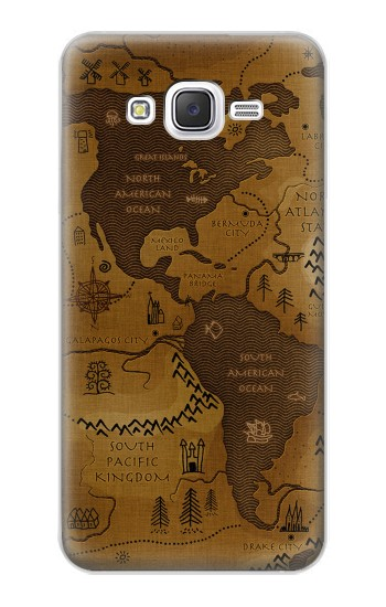 Printed Antique Style Map Samsung Galaxy J5 Case
